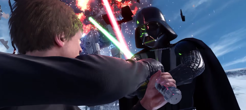 Star Wars Battlefront Luke y Darth Vader