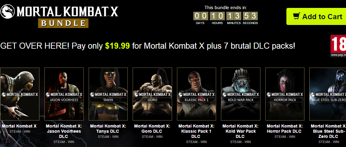 Mortal Kombat X Promo Bundle Stars