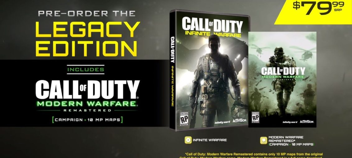 Call of duty infinite warfare modern warfare remastered