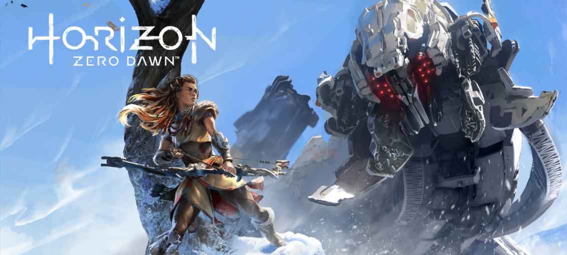Horizon Zero Dawn - Aloy posando para un Atronador