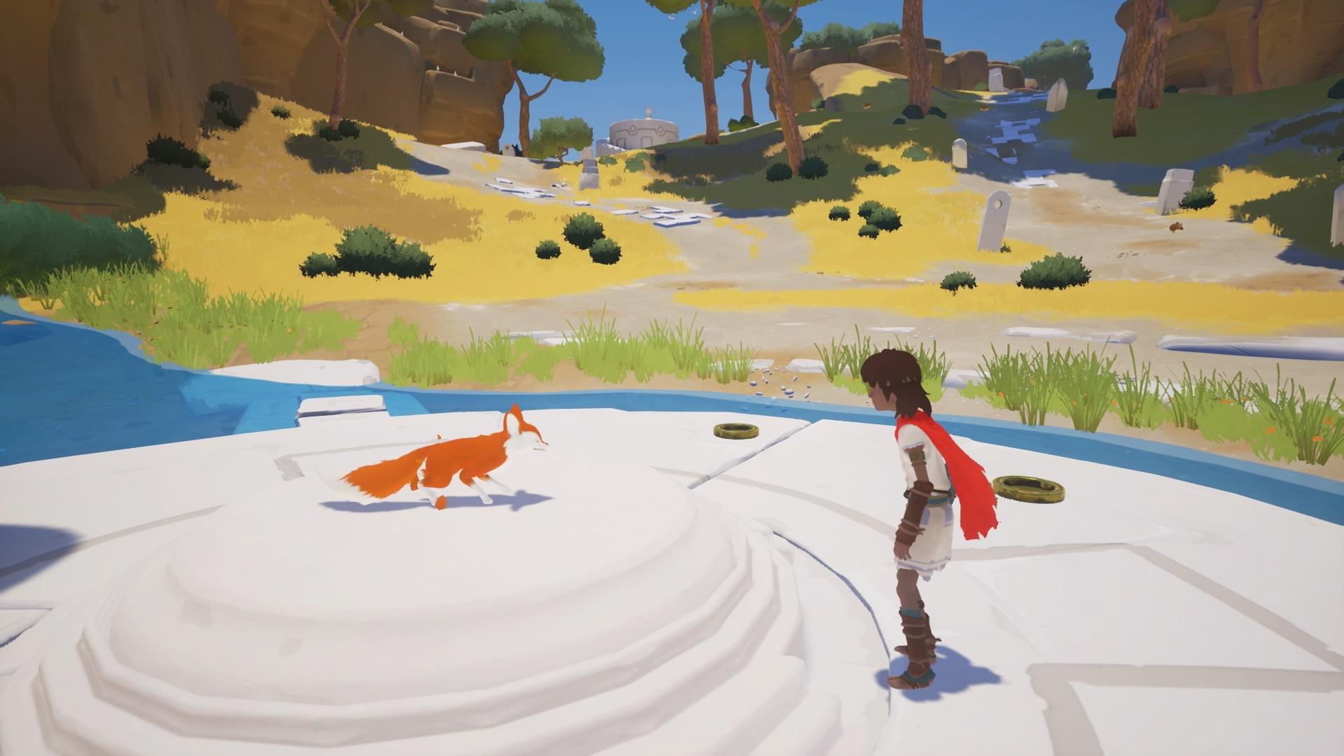 RiME 1 - niño interactuando con zorro