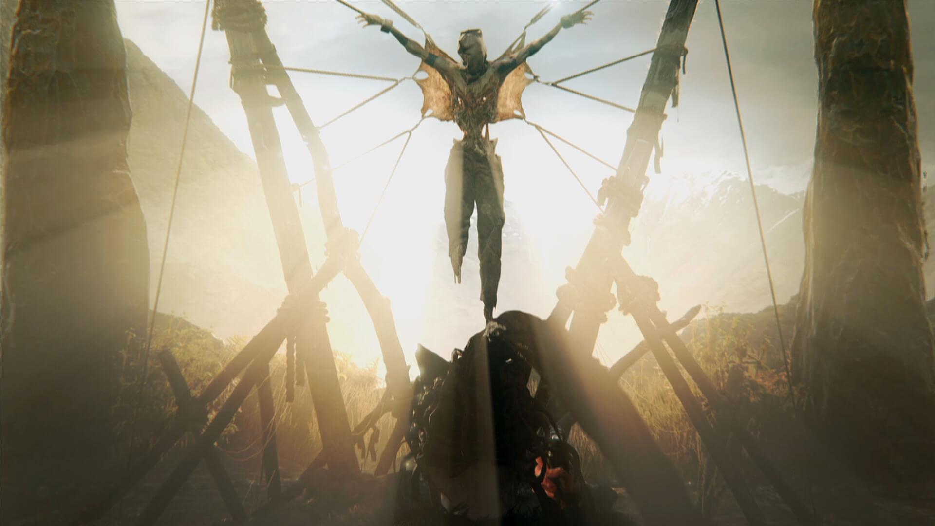 Hellblade - hombre colgado
