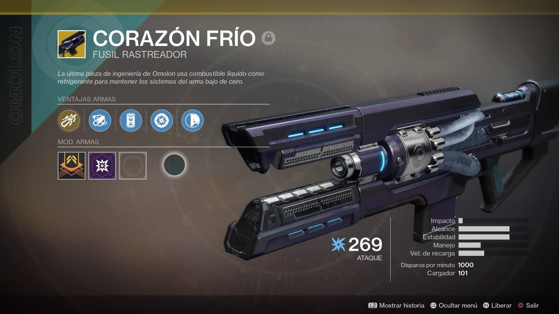 Destiny 2 - inventario arma excepcional