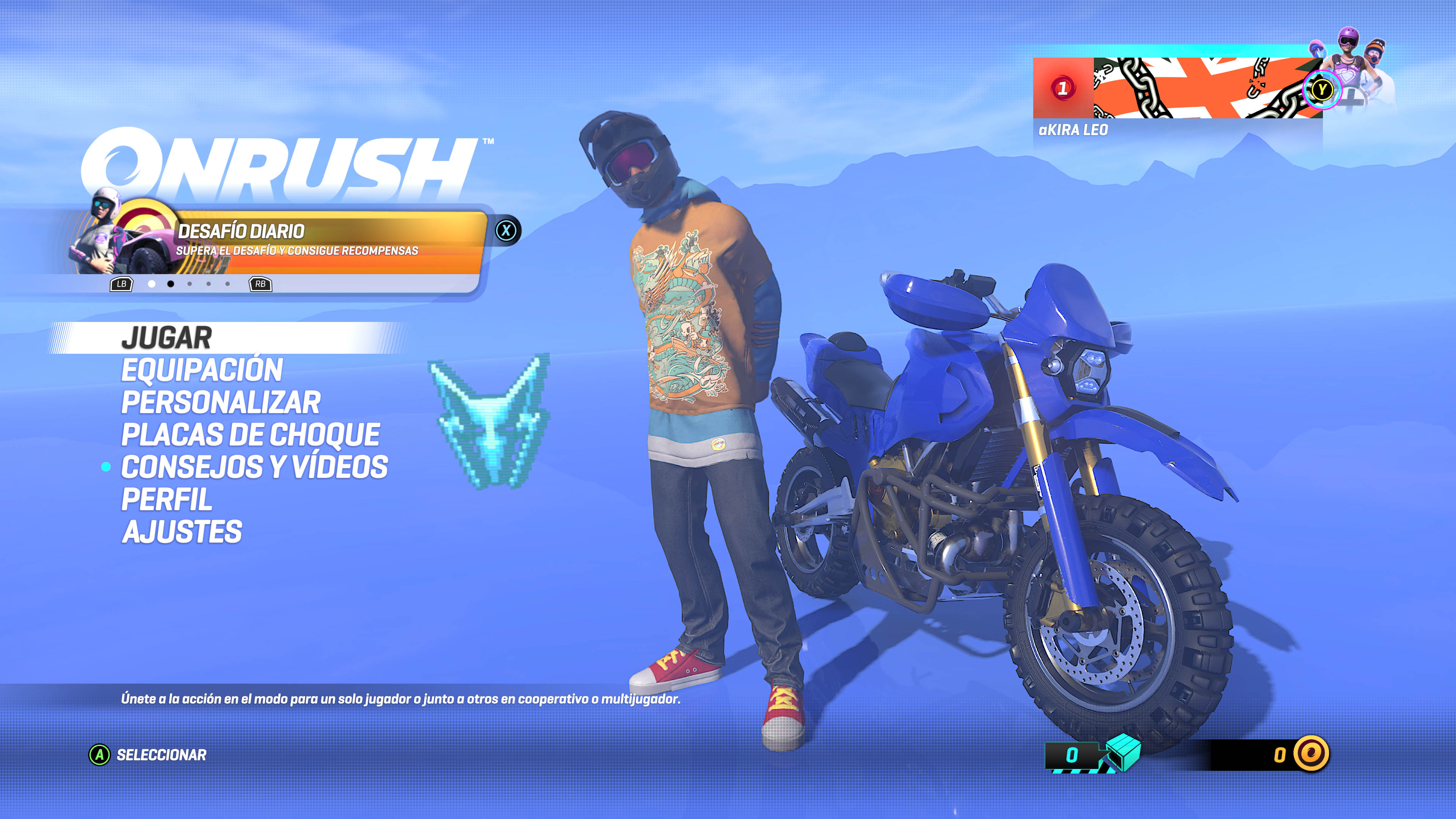ONRUSH™_estilo interfaz o videos