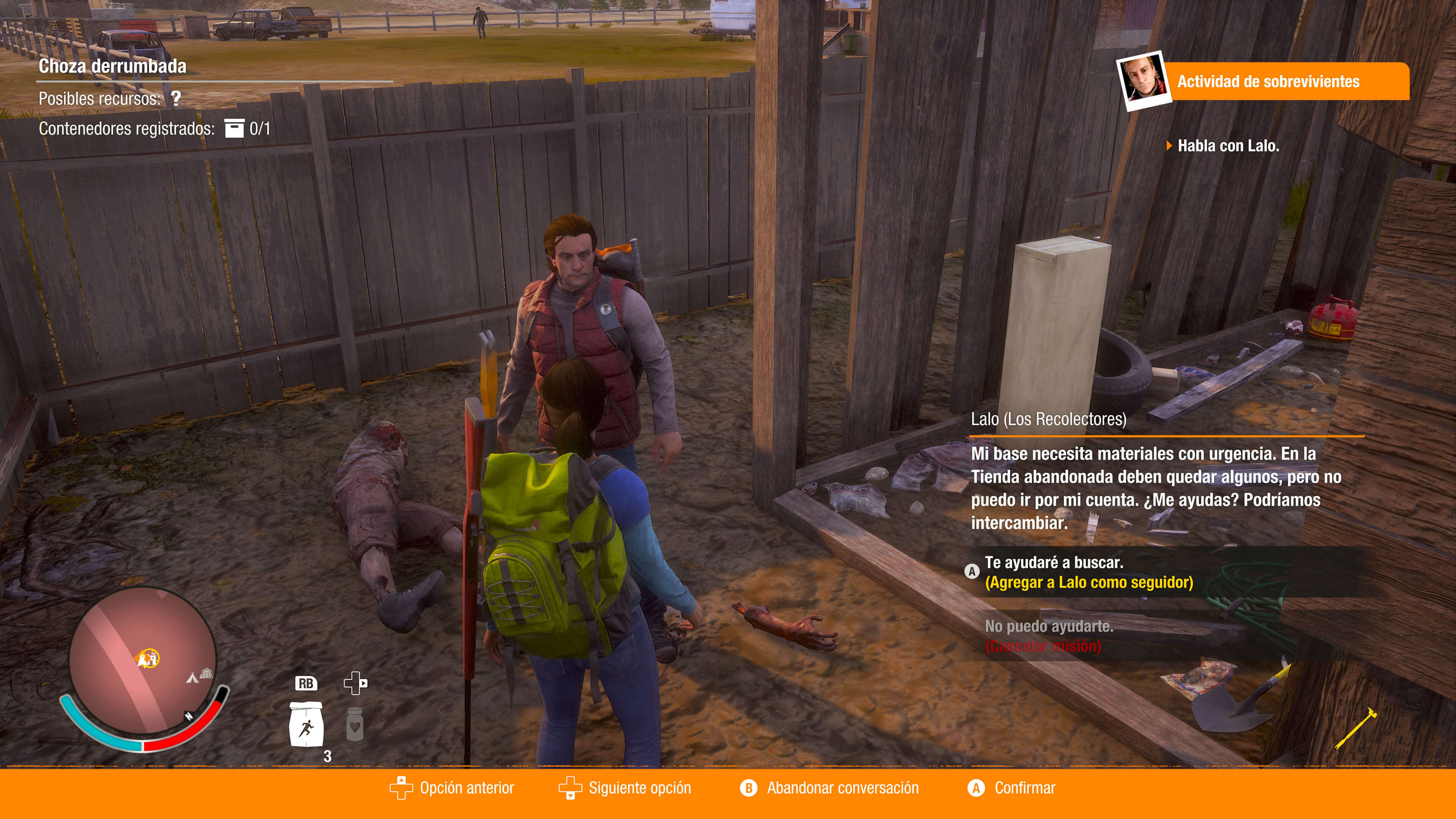 State of Decay 2_misiones interfaz ayuda