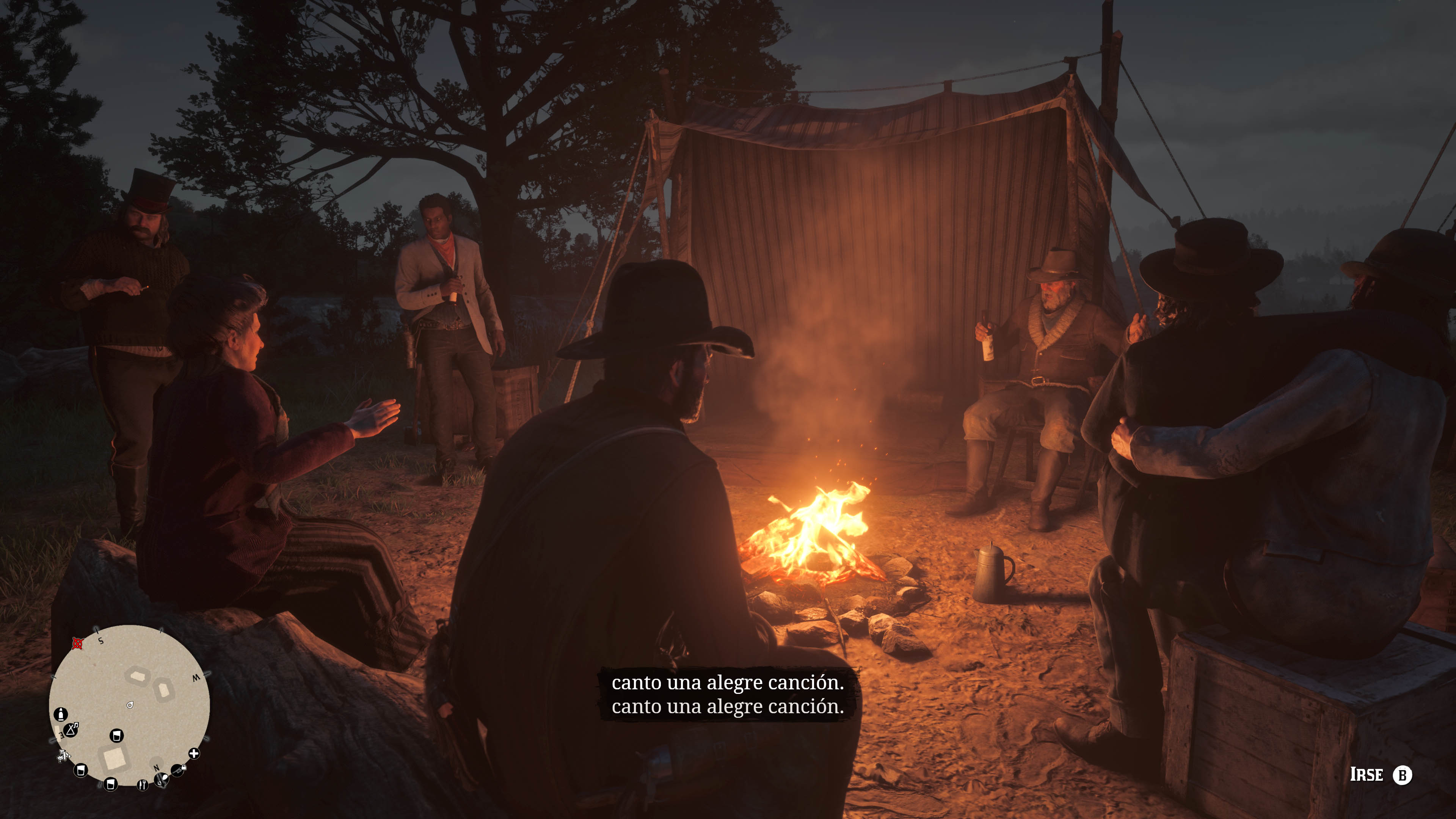 Red Dead Redemption 2_el campamento
