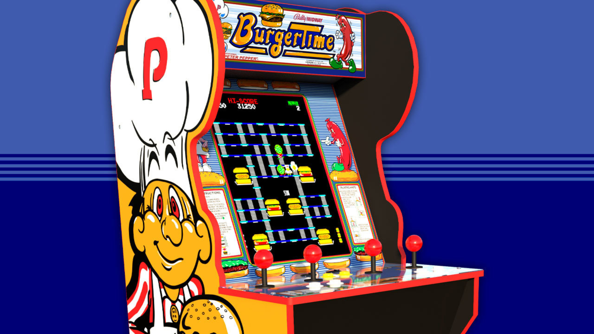 arcade 1up cabinets_burger time